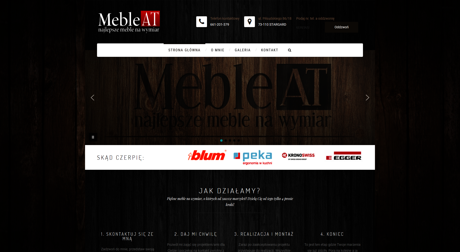 Strona www stolarza meblowego
